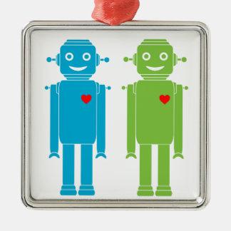 LGBT homosexuelle Roboter-Feiertags-Verzierung Silbernes Ornament