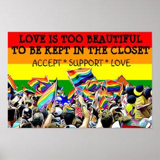 LGBT Liebe ist schönes Parade-Regenbogen PLAKAT
