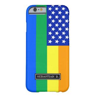 LGBT Regenbogen-amerikanische Flagge Barely There iPhone 6 Hülle