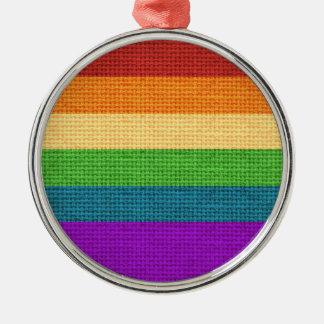 LGBT Regenbogen-Stolz-Feiertags-Verzierung Silbernes Ornament