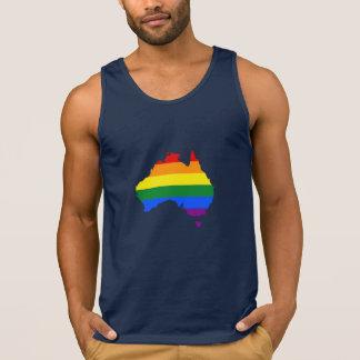 LGBT Regenbogen-Stolzkarte von Australien Tank Top