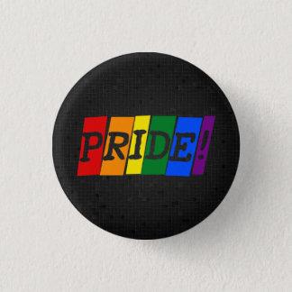 LGBT Regenbogenstolzschwarzknopf Runder Button 3,2 Cm