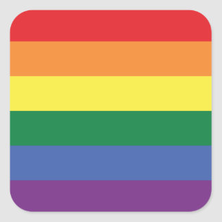 LGBT | Streifen des Stolz-Flaggen-Entwurfs-| | Quadratischer Aufkleber