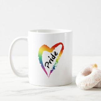 LGBTQ Stolz-Kaffee-Tassen-Regenbogen-Herz Tasse