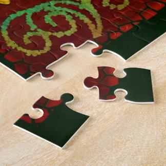 Libellen-elegante Jeweled Volkskunst 2 Puzzle