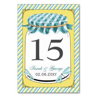 Libellen-Weckglas-Gelb-Aqua-Hochzeit Karte