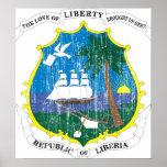Liberia-Wappen Poster