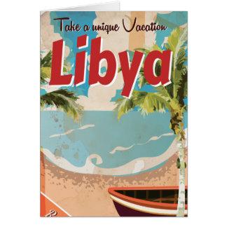 Libyen-Ferien Vintages Reise-Plakat Karte