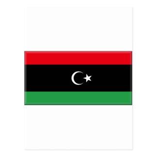 Libyen-Flagge 1951 Postkarte