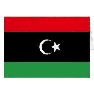 Libyen-Flagge Karte