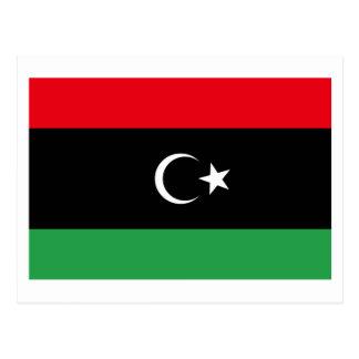 Libyen-Flagge Postkarte