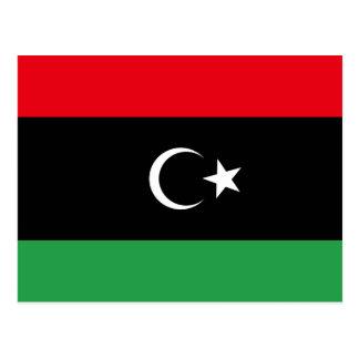 Libyen-Flaggen-Postkarte Postkarte
