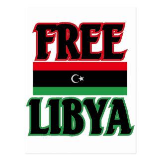 Libyen - freies Libyen ليبياالحرة Postkarte
