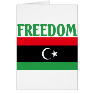 Libyen-Freiheits-Flagge Karte