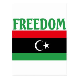 Libyen-Freiheits-Flagge Postkarte