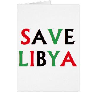 Libyen - retten Sie Libyen Karte