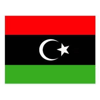 Libyer-Rebellenflagge Postkarte