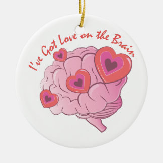 Liebe auf Gehirn Keramik Ornament