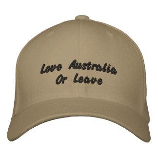 Liebe Australien oder verlassen, Bestickte Baseballkappe