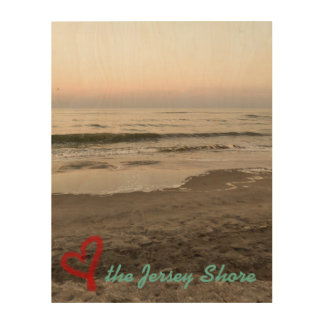 Liebe das Jersey-Ufer Holzleinwand