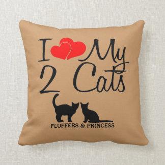 Liebe der Gewohnheits-I meine zwei Katzen Kissen