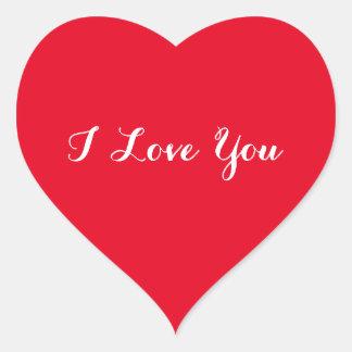 Liebe der Gewohnheits-I Sie Valentinstag-roter Herz-Aufkleber