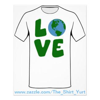 Liebe der Mutter-Erdplanet 11,4 X 14,2 Cm Flyer