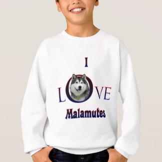 Liebe des alaskischen Malamute-I Sweatshirt