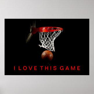 Liebe des Basketball-Plakat-I dieses Spiel Poster
