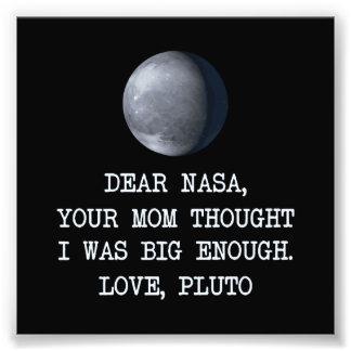 Liebe die NASA-Liebe Pluto Photographischer Druck