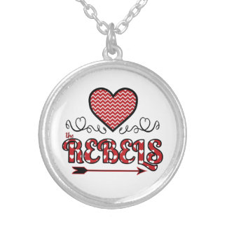 Liebe die Rebell-Halskette (rund) Versilberte Kette