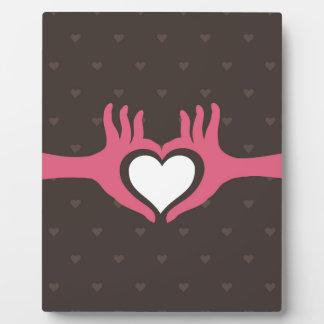 Liebe eine Hand Fotoplatte