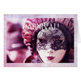 Liebe, eine Mädchen-Postkarte zu sein: Karneval Grußkarte