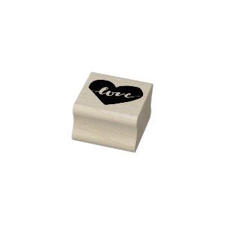 LIEBE eingeschriebene Herz-Briefmarke Gummistempel