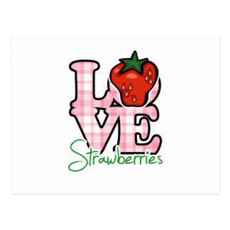 Liebe-Erdbeeren Postkarte