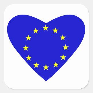 Liebe Europa Quadrat-Aufkleber
