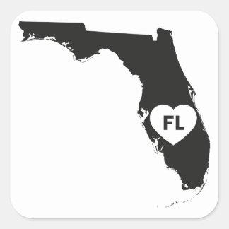 Liebe-Florida-Staat der Aufkleber-I Quadratischer Aufkleber