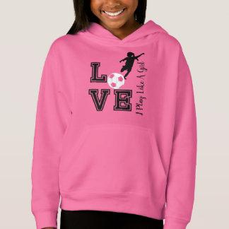 Liebe-Fußball - i-Spiel mögen Sie ein Mädchen - Hoodie