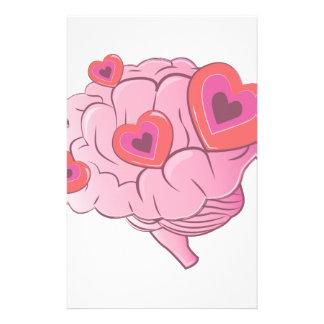 Liebe-Gehirn Individuelle Büropapiere