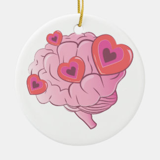 Liebe-Gehirn Keramik Ornament