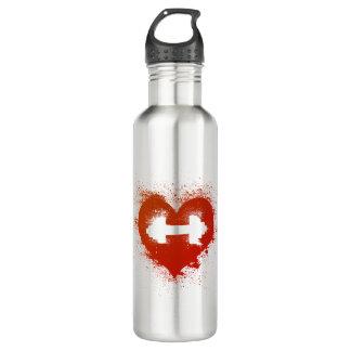 Liebe-Gewinne - Gewichts-Training Edelstahlflasche