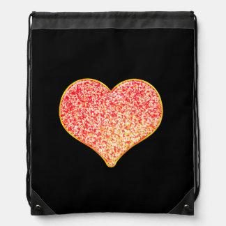 LIEBE - glänzendes rosa Gold - Sportbeutel