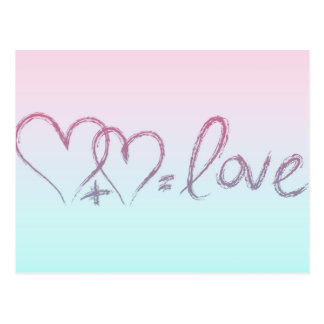 Liebe-Gleichung Postkarte