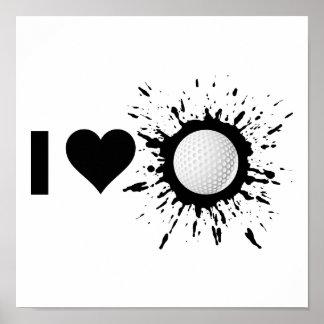 Liebe-Golf des Sprengstoff-I Poster