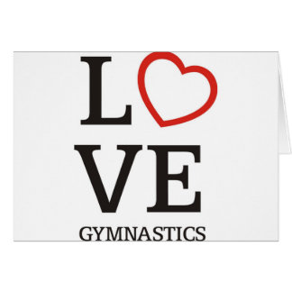 LIEBE Gymnastik Karte