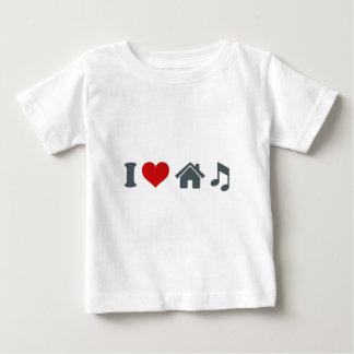 Liebe-Haus-Musik Baby T-shirt