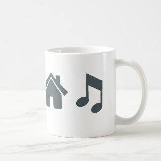 Liebe-Haus-Musik Tasse