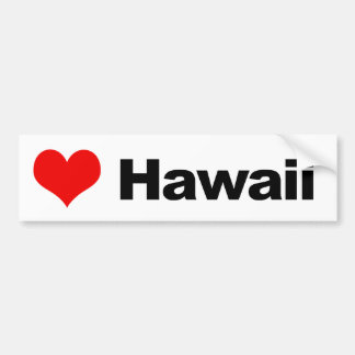 Liebe Hawaii Autoaufkleber