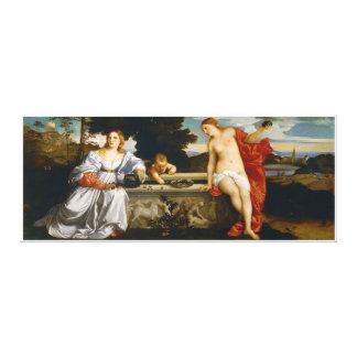 Liebe heilig und profane Liebe durch Titian Leinwanddrucke