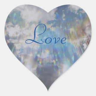 Liebe Herz-Aufkleber